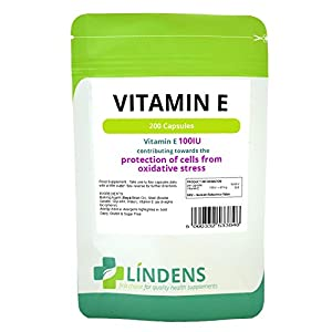 Lindens Vitamin E 100IU DOUBLE PACK 400 Capsules DL Alpha Tocopherol