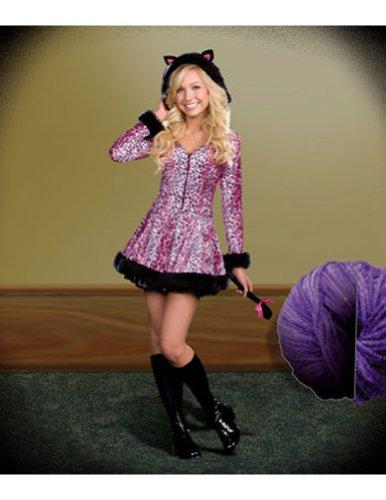 Dreamgirl Teen Pretty Lil Kitty Dress, Pink/Black, Medium (Sexy Halloween Costumes For Teens)