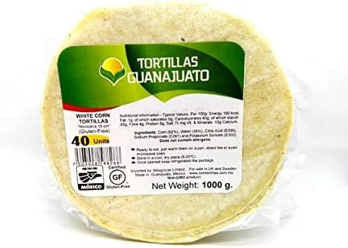 White Corn Tortillas 1kg 40 Units Amazon Co Uk Grocery