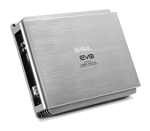 (Sound Storm EVO3000.1 EVO 3000 Watt, 1 Ohm Stable Class D Monoblock Car Amplifier with Remote Subwoofer Control)
