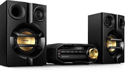 Philips Bluetooth Stereo System for Home with CD Player , MP3, USB, FM Radio, Bass Reflex Speaker, 230 W