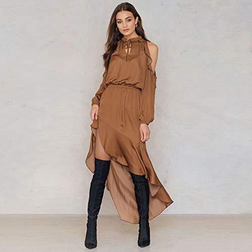 928791bdbe9e Amazon.com  Best Quality - Dresses - Spring Summer Autumn Fashion Vestidos  Women Casual Elegant Office Sexy Khaki Long Sleeve Off Shoulder Mini Dress  for ...