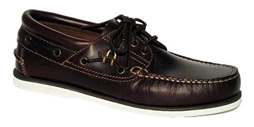 BluePort Comfort WS Seafox - Chaussures bateau classique pour homme Marron semelle blanche