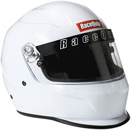 RaceQuip 273113 Gloss White Medium PRO15 Full Face Helmet Snell SA-2015 Rated