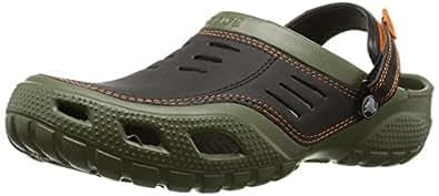 crocs Men's Yukon Sport Clog,Army Green/Black,7 M Us