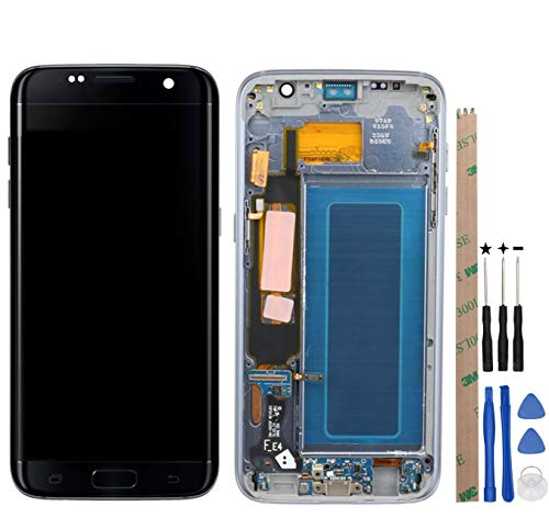 HYYT Replacement For Samsung Galaxy S7 Edge G935F G935FD G935W8 G9350 LCD Digitizer Screen LCD Display and Touch Screen With Frame Full Assembly (black)