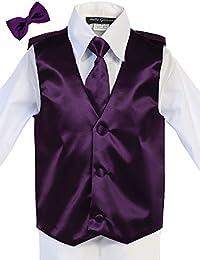 Men's Satin Hand Made Long Tie & Vest Set (S-L) (Free Bow Tie)