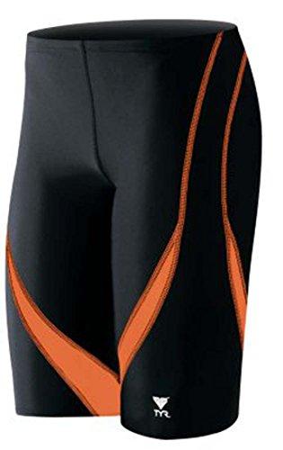 TYR Alliance Splice Jammer Swimsuit, Black/Orange, Size - Size Swimsuit 36