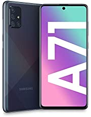 "Samsung Galaxy A71 Smartphone, Display 6.7"" Super AMOLED, 4 Fotocamere Posteriori, 128 GB Espandibili, RAM 6 GB, Batteria 4500 mAh, 4G, Dual Sim, Android 10, [Versione Italiana], Prism Crush Black"