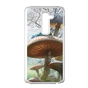 LG G2 Cell Phone Case White Alice in Wonderland Character Alice UDP Back Design Cell Phone Case