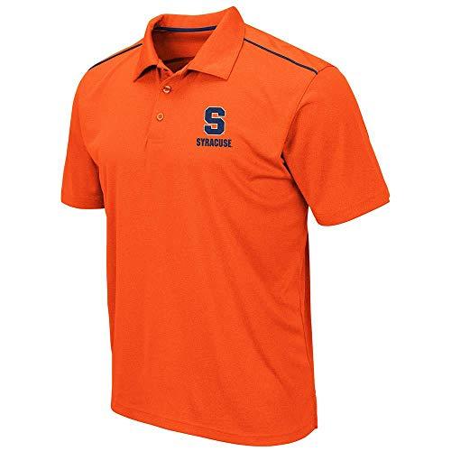 (Mens Syracuse Orange Eagle Short Sleeve Polo Shirt - XL)