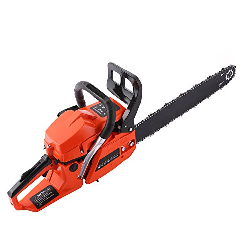 Vansop 62cc 20'' Petrol Chainsaw with 2 Chains Cutting Wood Tool Kit Gas Powered Chain Saw by Vansop
