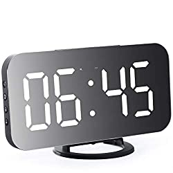 Digital Alarm Clock - Stylish led Clock with 2 USB Ports, a Huge 6.5 inch Display con Automatic Brightness Control