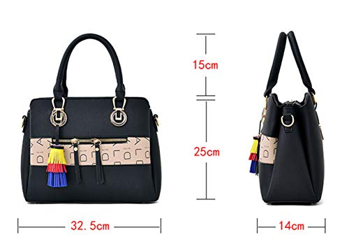 Women Classic Weekender Tote Medium-Size Satchel Style Handbag by Traum Starter (Image #5)