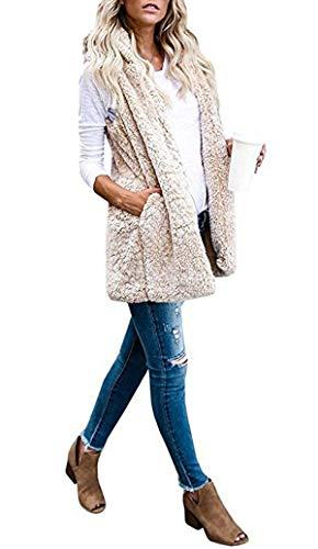 con Casual Capucha Cazadora Invierno Faux Suéter Coat Chalecos Sin Mujeres de Cálida Tops Mangas Pelaje Moda Outerwear Abrigo Fox Otoño Ropa Fräulein Chaquetas Jacket Twa8xqF