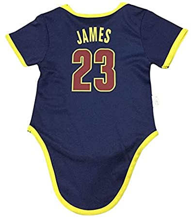 1fb971d0e Amazon.com: iSport Gifts James Basketball Jersey Lebron Baby Infant &  Toddler Onesies Rompers Pack of 2 Home & Away Jersey Design Bundle: Sports  & Outdoors