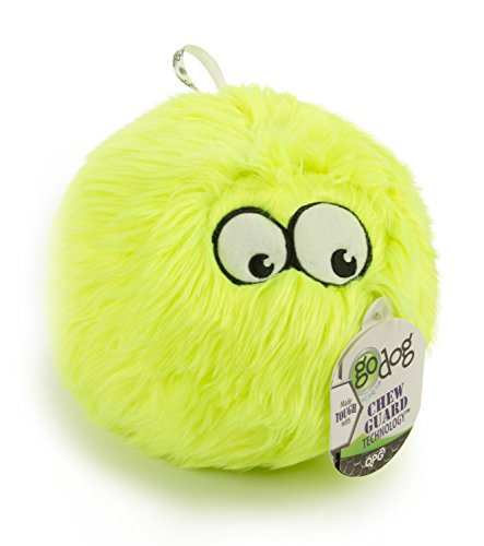 goDog Furballz Tough Plush Dog Toy with Chew Guard Technolog