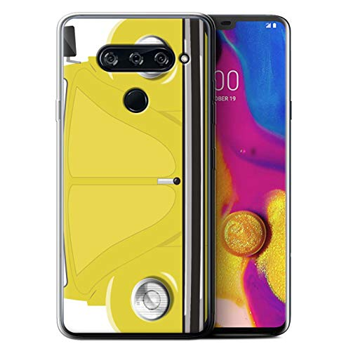 eSwish Gel TPU Phone Case/Cover for LG V40 ThinQ/Rallye Yellow Design/Retro Beetle Collection