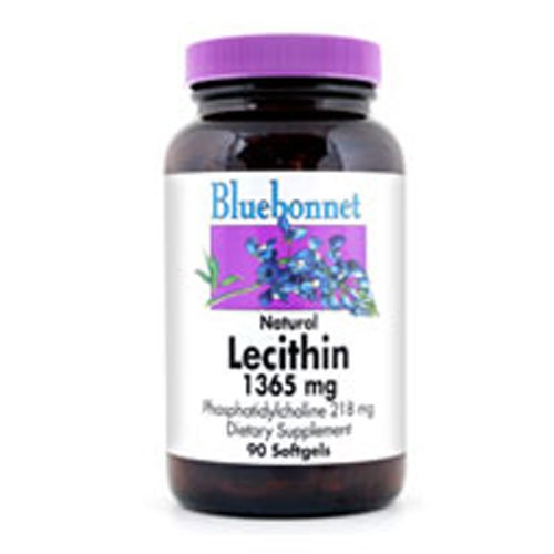 Bluebonnet Natural Lecithin 1365 mg. 90 SGs (4 pack)