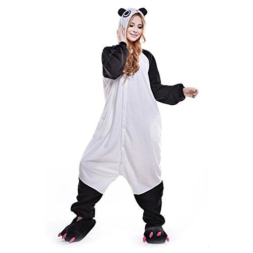 LSERVER Adulto Halloween Cosplay Panda Animale Unisex Attrezzatura Pigiama Costume AqHrAB