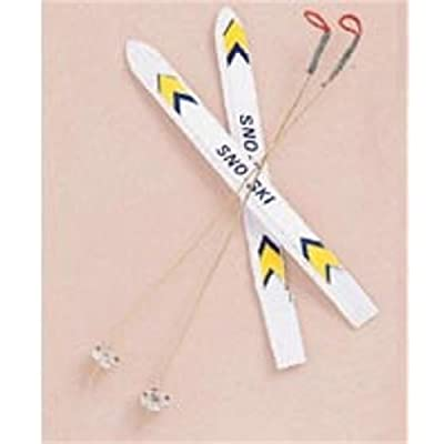 Miniature - Ski Set - 4 inches - 1 set: Toys & Games