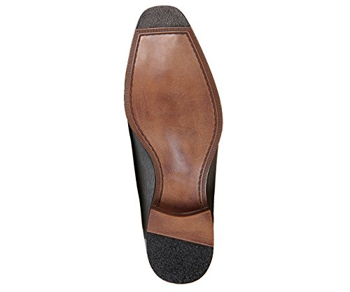 Bolano Mens Exotic Faux EEL Skin Printed Oxford Dress Shoe with Black Burnished Toe, Style Brayden Grey