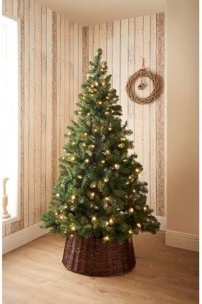 Impresionante mimbre Base de árbol de Navidad decoración de ...