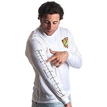 Fishing Ruler | Long Sleeve Wicking Fisherman, Ruler on Arm Unisex T-shirt
