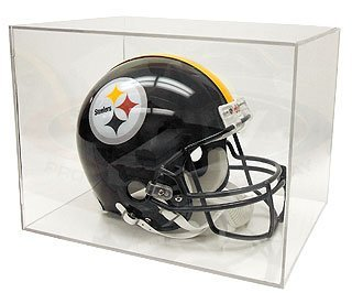 BCW BallQube Full Size Football Helmet Display Holder - Sports Memoriablia Display Case - Sportscards Collecting Supplies , Standard UV Coating ()
