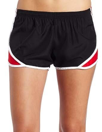 Soffe Juniors Team Shorty Short, Black/Red, Small