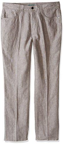 Cubavera Men's 100% Linen 5-Pocket Pant, Alloy, 32W x 30L Cubavera Linen Pants