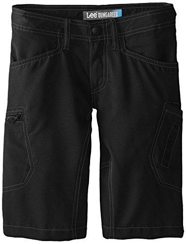 Lee Big Boys' Dungarees Grafton Cargo Short, Black, 12