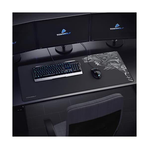 titanwolf 900x400  TITANWOLF XXL Speed Gaming Mouse pad (logo) | 900 x 400 x 4mm | XXL ...