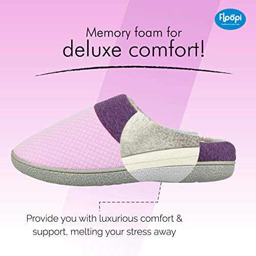 8bb70a5b0 Floopi Slippers for Women Memory Foam Clog Scuff/Mule House Slip-Ons for  Indoor