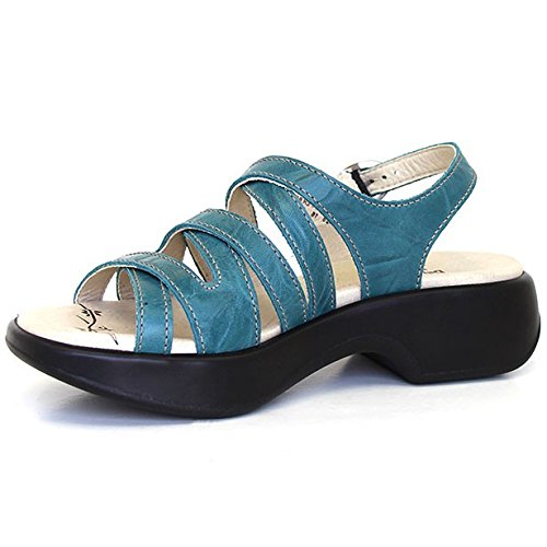 Dromedaris Womens Golden Eagle Sandal Groenblauw