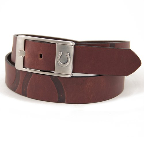 picture of Indianapolis Colts Leather Brandish Brown Belt