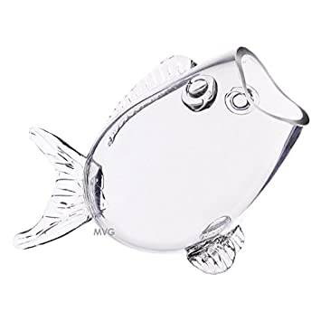 Surprising Cys Clear Thick Glass Fish Shaped Bowl 7 5 High Fish Bowl Interior Design Ideas Philsoteloinfo