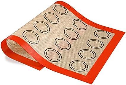 pizza antiaderenti Hugttt Set di 3 tappetini in silicone antiscivolo per pasticceria biscotti 3 misure con misure per crosta pasta
