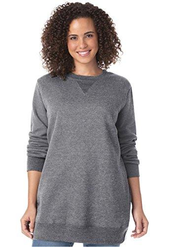 Woman Within Women's Plus Size Fleece Sweatshirt by Woman Within