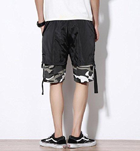 SportsX Mens Multicam Straight-Fit Plus Size Stitch Mid Length Short Grey M by SportsX (Image #2)