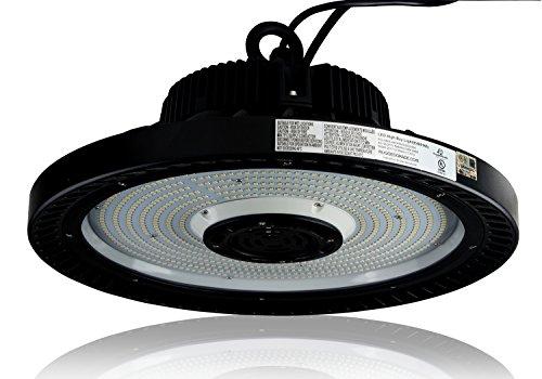 Dimmable 14,500 Lumen 100 Watt LED High Bay Light - Dimmable - 4000K Natural - Replace 400 Watt Metal Halide - 150 Watt LED High Bay Lighting UFO LED Light - 145 Lumen to Watts– LED Warehouse Lights (Metal High Watt Bay Halide)