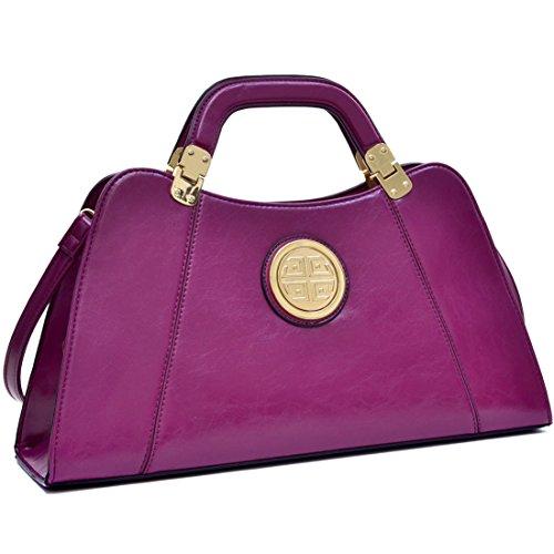dasein-pu-flat-bottom-emblem-a-symmetrical-handbag-shoulder-bag-w-removable-shoulder-strap