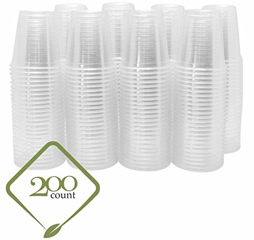 8oz Clear Plastic Disposable Cups - Premium 8 oz (ounces) Crystal Clear PET Cup (No Lids) for Cold Drinks Iced Coffee Tea Juices Smoothies Slush Soda Cocktails Beer Sundae Kids (Plastic Drinking Water)