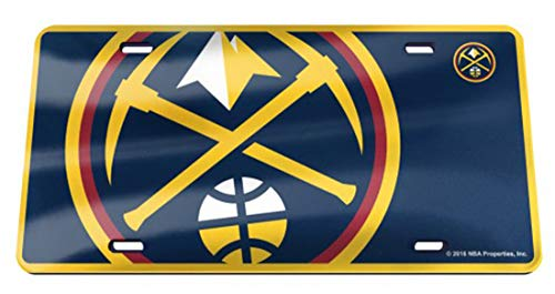 WinCraft Denver Nuggets Premium License Plate, Mega Style Graphics