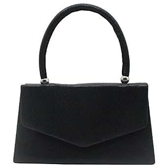 Wiwsi Lady Clutch Bag/Handbag/Chain Crossbody bag- Evening//Weekend/Work Fashion (Black)