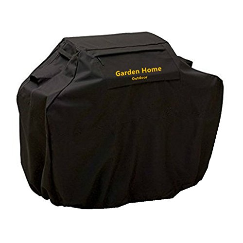 Grill Cover – garden home Up to 52″ Wide, Water Resistant, Air Vents, Padded Handles, Elastic hem cord – Heavy Duty burner gas BBQ grill Cover Review