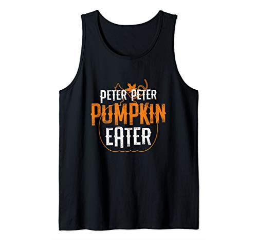 Creative Halloween Costumes For Couples 2019 (Peter Peter Pumpkin Eater Matching Couples Halloween Costume Tank)