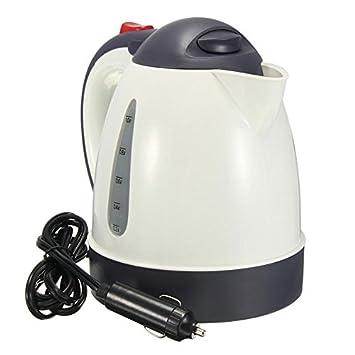 SODIAL 1000ML caldera caliente del coche de viaje portatil del calentador de agua de gran capacidad