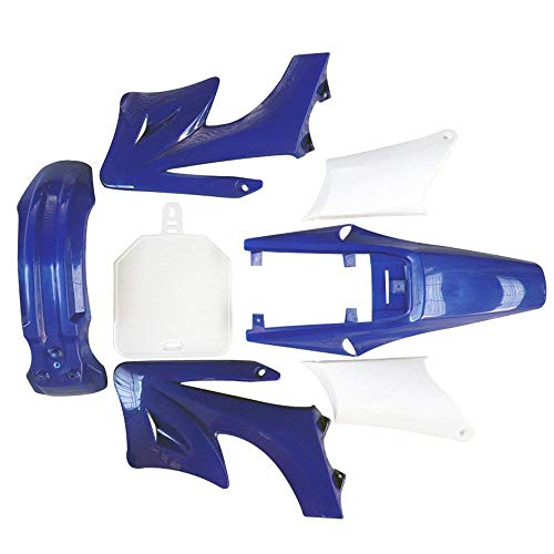 TDPRO Complete Fender Body Plastic Fairing Kit for Apollo Orion 110cc 125cc 150cc Pit Dirt Bike (4Blue+3White) Dirt Bike Body Kits