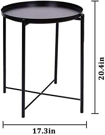 JYXYT Tray Metal End Table